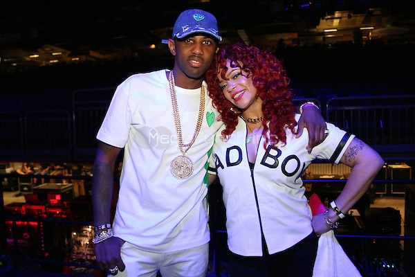 NEW ORLEANS, LA - JULY 3, 2016Fabolous & Faith backstage at Essence Festival at Mercedes Benz Superdome, July 3, 2016 in New Orleans, Louisiana. Photo Credit: Walik Goshorn / Media Punch