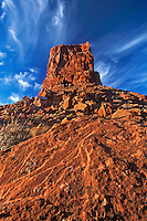 792800003a red sandstone monolith formation in valley of the gods utah
