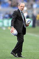 Jacques Brunel, allenatore dell'Italia di Rugby.<br /> Roma 22-02-2014, Stadio Olimpico. Sei Nazioni di Rugby / Rugby Six Nations - Italia vs Scozia - Foto Antonietta Baldassarre / Insidefoto