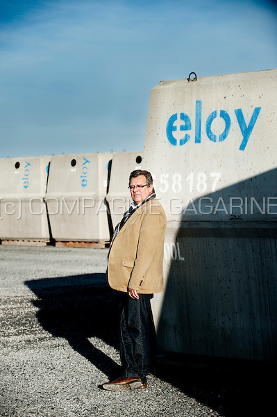 Louis Eloy, CEO of the Groupe Eloy (Eloy Water & Eloy Beton) construction company (Belgium, 27/10/2014)