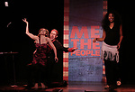 Mitchel Kawash, Mia Weinberger and Aiesha Dukes perform onstage during the 'ME THE PEOPLE: The Trump America Musical' Press Preview Presentation at The Triad Theater on June 21, 2017 in New York City.