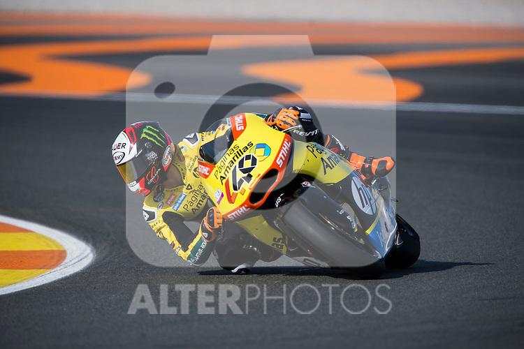 VALENCIA, SPAIN - NOVEMBER 11: Alex Rins during Valencia MotoGP 2016 at Ricardo Tormo Circuit on November 11, 2016 in Valencia, Spain