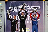 Robert Wickens, Schmidt Peterson Motorsports Honda, Josef Newgarden, Team Penske Chevrolet, Alexander Rossi, Andretti Autosport Honda, podium