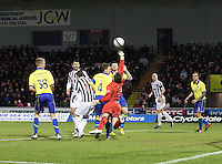Cammy Bell with an important save in the St Mirren v Kilmarnock Clydesdale Bank Scottish Premier League match played at St Mirren Park, Paisley on 2.1.13.