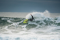 BELLS BEACH, Torquay, Victoria, Australia    (Wednesday, April 4, 2018) Pat Gudauskas (USA) - The Rip Curl Pro Bells Beach, Stop No. 2 on the World Surf League (WSL) Championship Tour (CT), was  called OFF today despite some nice, clean waves coming through Bells on the incoming tide. The decision was made with the forecast predicting improved conditions for an exciting Finals Day tomorrow. <br /> Event organizers will reconvene tomorrow morning at 6:15 a.m. AEDT for a possible 6:30 a.m. start. <br /> Photo: joliphotos.com