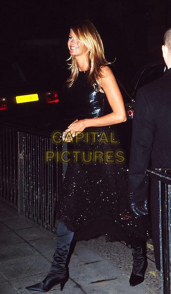 ELLE MACPHERSON ..Mario Testino:Portraits preview party at The National Gallery. Ref: 11383..black knee-high boots..www.capitalpictures.com..sales@capitalpictures.com..©Capital Pictures..full length, full-length