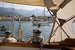 Marciana Marina, Harbor, sailing Mediterranean, Elba; Province of Livorno; Italy, Mediterranean Sea;