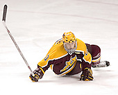 Alex Goligoski - The University of Minnesota Golden Gophers defeated the University of North Dakota Fighting Sioux 4-3 on Saturday, December 10, 2005 completing a weekend sweep of the Fighting Sioux at the Ralph Engelstad Arena in Grand Forks, North Dakota.