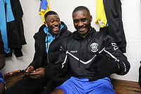 Chinedu McKenzie of Haringey before the game  during Haringey Borough vs AFC Wimbledon, Emirates FA Cup Football at Coles Park Stadium on 9th November 2018