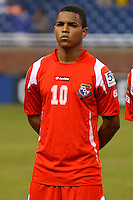 Panama midfielder Nelson Barahona (10) before the CONCACAF soccer match between Panama and Guadeloupe at Ford Field Detroit, Michigan.