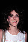 """Gilda Radner after a performance in  """"Lunch Hour"""" Directed by Mike Nichols on May 12, 1980 at the Barrymore Theatre in New York City."""