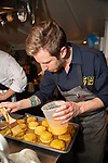 New York, NY - April 12, 2018: Chef Abraham Conlon, partner Adrienne Lo, and the team from Fat Rice in Chicago present dinner at the James Beard House in Greenwich Village.<br /> <br /> CREDIT: Clay Williams for the James Beard Foundation.<br /> <br /> &copy; Clay Williams / http://claywilliamsphoto.com