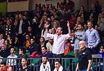 S&ouml;dert&auml;lje 2014-01-03 Basket Basketligan S&ouml;dert&auml;lje Kings - Bor&aring;s Basket :  <br /> Bor&aring;s supportrar p&aring; plats i T&auml;ljehallen jublar i slutet av matchen<br /> (Foto: Kenta J&ouml;nsson) Nyckelord:  supporter fans publik supporters jubel gl&auml;dje lycka glad happy