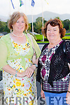 Peggy O'Sulllivan and Bridie lenihan  at the Kerry Hospice fashion show in the INEC on Wednesday night
