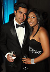 """Fauzul and Nisha Lakhani at the Houston Museum of Natural Science's """"Slither to the Sound: A Prehistoric Party"""" Saturday March 02, 2013.(Dave Rossman/ For the Chronicle)"""