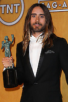 LOS ANGELES, CA - JANUARY 18: Jared Leto in the press room at the 20th Annual Screen Actors Guild Awards held at The Shrine Auditorium on January 18, 2014 in Los Angeles, California. (Photo by Xavier Collin/Celebrity Monitor)