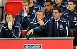 England manager Fabio Capello reacts to the game during the Friendly International match at Wembley Stadium, London. Picture date 28th May 2008. Picture credit should read: Simon Bellis/Sportimage