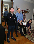 Chad Beguelin, Matthew Sklar, Caitlin Kinnunen and Beth Leavel attends the Dramatists Guild Fund Salon with Matthew Sklar and Chad Beguelin at the home of Gretchen Cryer on December 8, 2016 in New York City.