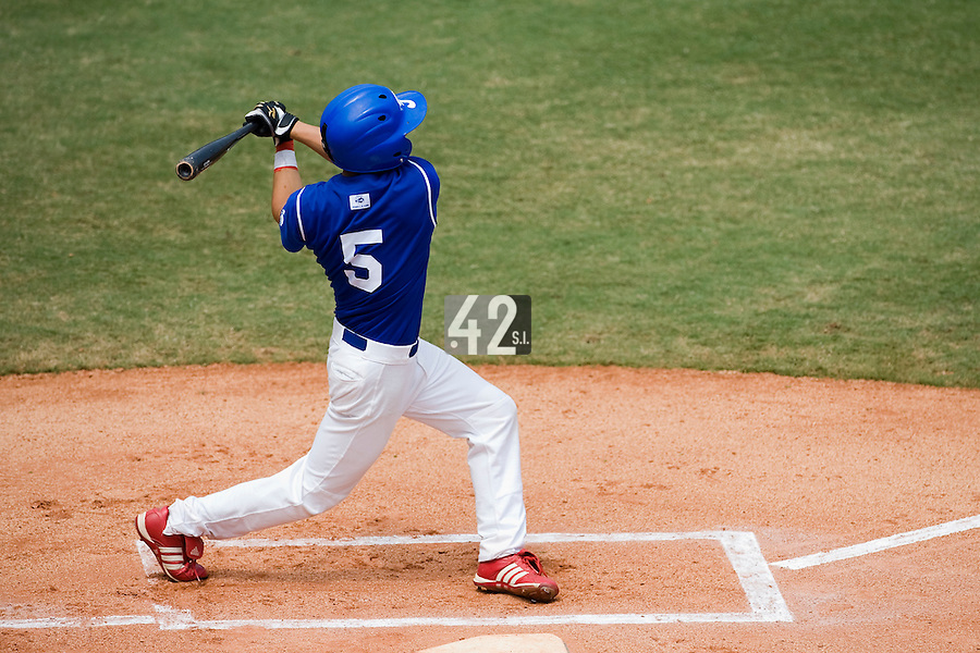 22 August 2007: Kenji Hagiwara is seen at bat during the Japan 9-4 victory over France in the Good Luck Beijing International baseball tournament (olympic test event) at west Beijng's Wukesong Baseball Field in Beijing, China.