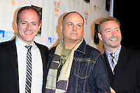 """MALIBU - OCT 21: Michael Caprio, Brian Edwards, Randy Slovacek at the """"Enter Miss Thang"""" Book Launch Party at Cafe Habana on October 21, 2013 in Malibu, California"""