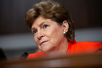 United States Senator Jeanne Shaheen (Democrat of New Hampshire) listens to Air Force General John Hyten, who is nominated to become Vice Chairman Of The Joint Chiefs Of Staff, testify before the U.S. Senate Committee on Armed Services during his confirmation hearing on Capitol Hill in Washington D.C., U.S. on July 30, 2019. Credit: Stefani Reynolds/CNP/AdMedia