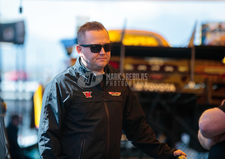 Feb 23, 2019; Chandler, AZ, USA; NHRA top fuel driver Richie Crampton during qualifying for the Arizona Nationals at Wild Horse Pass Motorsports Park. Mandatory Credit: Mark J. Rebilas-USA TODAY Sports