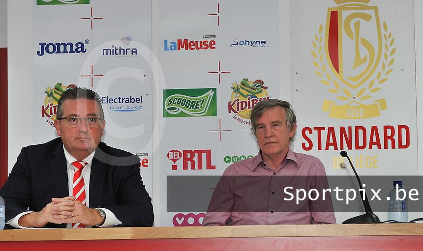 Persconferentie Standard Femina de Liege : Denis Franco en Roland Duchatelet<br /> foto Joke Vuylsteke / nikonpro.be