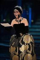 Rita Moreno presents the Oscar&reg; for Best foreign language film of the year during the live ABC Telecast of The 90th Oscars&reg; at the Dolby&reg; Theatre in Hollywood, CA on Sunday, March 4, 2018.<br /> *Editorial Use Only*<br /> CAP/PLF/AMPAS<br /> Supplied by Capital Pictures