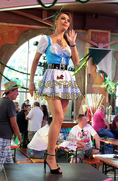 Oktoberfest dancers at huge german nightclub and bar Mega Park at S'Arenal, Majorca, September 2016<br /> CAP/ROS<br /> &copy;Steve Ross/Capital Pictures