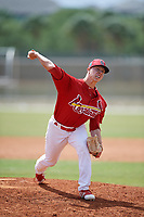 St. Louis Cardinals pitcher Thomas St. Clair (25) during a Minor League Spring Training game against the Houston Astros on March 27, 2018 at the Roger Dean Stadium Complex in Jupiter, Florida.  (Mike Janes/Four Seam Images)