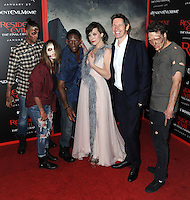 www.acepixs.com<br /> <br /> January 23 2017, LA<br /> <br /> Actress Milla Jovovich and husband/director Paul W.S. Anderson arriving at the premiere of 'Resident Evil: The Final Chapter' at the Regal LA Live on January 23, 2017 in Los Angeles, California.<br /> <br /> By Line: Peter West/ACE Pictures<br /> <br /> <br /> ACE Pictures Inc<br /> Tel: 6467670430<br /> Email: info@acepixs.com<br /> www.acepixs.com