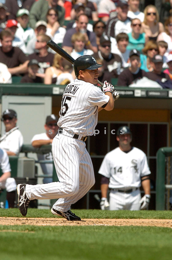Tadahito Iguchi, of the Chicago White Sox, during their game against the Minnesota Twins on April 23, 2006 in Chicago...Sox  win 7-3..David Durochik / SportPics
