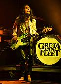 MIAMI FL - MAY 07: Sam Kiszka of Greta Van Fleet performs at Bayfront Park Amphitheater on May 7, 2019 in Miami, Florida. Photo by Larry Marano © 2019