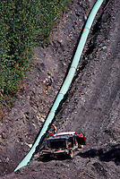 Natural Gas Pipeline, Pine Pass, Northern BC, British Columbia, Canada