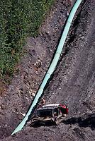 Natural Gas Pipeline, Pine Pass, Northern BC, British Columbia, Canada