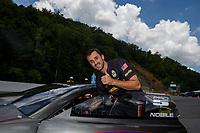 Jun 17, 2017; Bristol, TN, USA; NHRA pro stock driver Vincent Nobile during qualifying for the Thunder Valley Nationals at Bristol Dragway. Mandatory Credit: Mark J. Rebilas-USA TODAY Sports