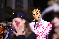 NOVA YORK, EUA, 31.10.2019 - HALLOWEEN-PARADE - Foliões desfilam no Halloween Parade na cidade de Nova York nos Estados Unidos na noite desta quinta-feira, 31. (Foto: Vanessa Carvalho/Brazil Photo Press/Folhapress)
