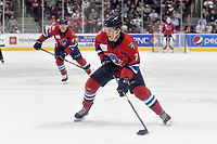 HERSHEY, PA - DECEMBER 01: Springfield Thunderbirds forward Blaine Byron (7) takes a shot on net during the Springfield Thunderbirds at Hershey Bears on December 1, 2018 at the Giant Center in Hershey, PA. (Photo by Randy Litzinger/Icon Sportswire)
