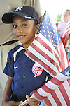 David Angelou, 6, of Bellmore, attends the Independence Day annual reading of the Declaration of Independence on Wednesday, July 4, 2012, held by Historical Society of the Merricks, Long Island, New York, USA.  Volunteers each read one line from the historic document in this Long Island tradition.