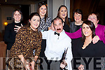 Si Mr Fawlthy: Tina Hegarty, Sarah Nagle, Katie O'Leary, Ciara Nagle, Kathleen Divane, Theresa Bruton and Sinead Nagle with Manuel at the Fauwlty Towers Womens Christmas in the Brehon Hotel on Saturday night
