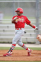 April 14, 2009:  Luis DeLaCruz (De La Cruz) of the St. Louis Cardinals extended spring training team during a game at Roger Dean Stadium Training Complex in Jupiter, FL.  Photo by:  Mike Janes/Four Seam Images