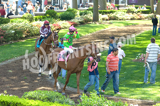 paddock before The Winter Melody Stakes at Delaware Park on 5/8/10