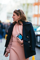 Natalie Massenet attends Day 2 of London Fashion Week on Feb 21, 2015 (Photo by Hunter Abrams/Guest of a Guest)
