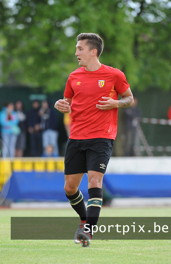 20160713 - DOUAI , FRANCE : RC Lens' Mathias Autret pictured during a friendly game between Racing Club de LENS and Waasland Beveren during the preparations for the 2016-2017 season , Wednesday 13 July 2016 ,  PHOTO Dirk Vuylsteke | Sportpix.Be