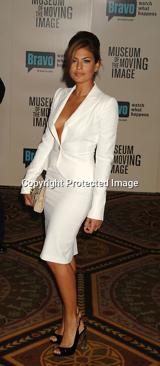 Eva Mendes..at The Museum of The Moving Image salute to Will Smith ..at The Waldorf Astoria Hotel in New York on December 3, 2006...Robin Platzer, Twin Images