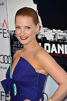 LOS ANGELES, CA. November 11, 2016: Actress Jessica Chastain at premiere of &quot;Miss Sloane&quot;, part of the AFI Fest 2016, at the TCL Chinese Theatre, Hollywood.<br /> Picture: Paul Smith/Featureflash/SilverHub 0208 004 5359/ 07711 972644 Editors@silverhubmedia.com