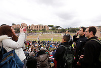 "Manifestazione ""Family Day"" al Circo Massimo, in sostegno della famiglia tradizionale, contro la legge sulle unioni civili in discussione al Senato, Roma, 30 gennaio 2016.<br /> Priests attend the ""Family Day"" rally at the Circus Maximus, in support of traditional family, against civil unions proposed law in discussion at the Italian Parliament, Rome, 30 January 2016.<br /> UPDATE IMAGES PRESS/Riccardo De Luca"
