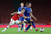 Anthony Evans of Everton in possession as Arsenal's Robbie Burton looks on during Arsenal Under-23 vs Everton Under-23, Premier League 2 Football at the Emirates Stadium on 23rd August 2019
