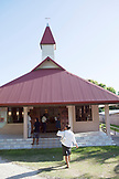 FRENCH POLYNESIA, Moorea. A local church service on the island.
