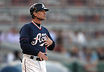Reno Aces manager Brett Butler coaches a minor league baseball game against the Sacramento River Cats in Reno, Nev., on Wednesday, June 12, 2013. Sacramento won 9-7.<br /> Photo by Cathleen Allison